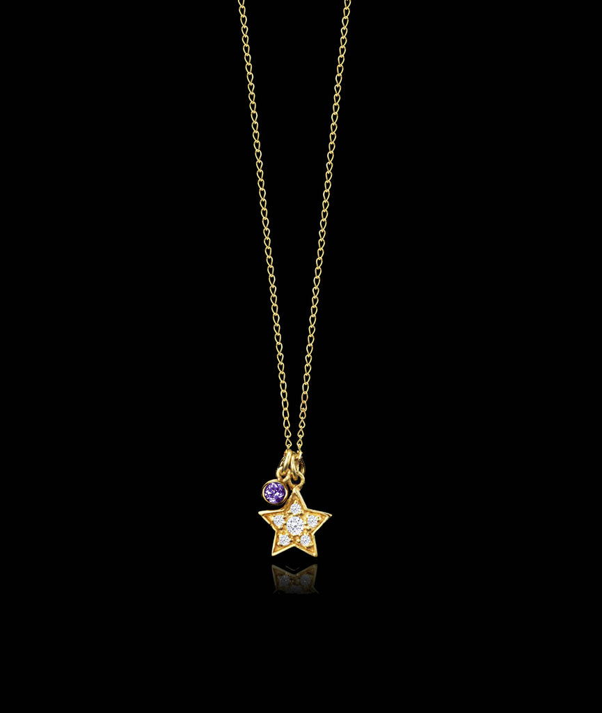 Star and Amethyst Pendant by Catherine Zoraida