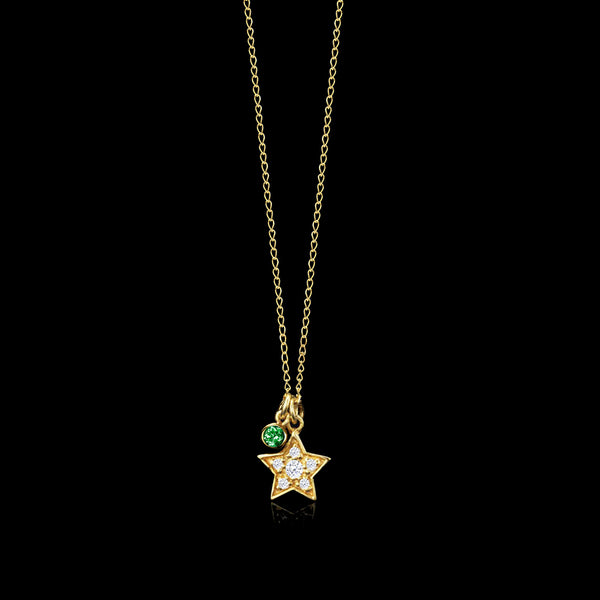 Star and Emerald Pendant by Catherine Zoraida