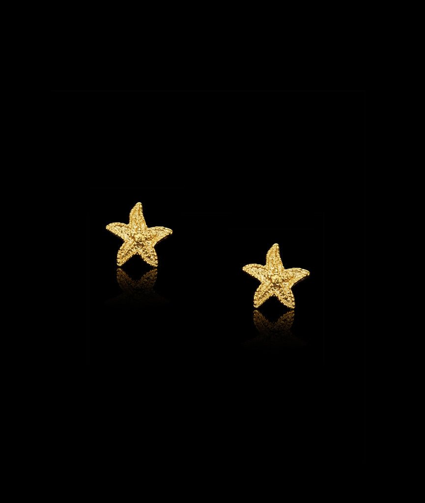 Gold Starfish Studs by Catherine Zoraida