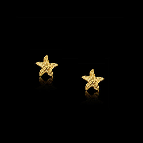 Gold Starry Night Cosmic Star Glitter Hoops