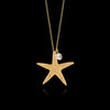 Starfish and pearl pendant