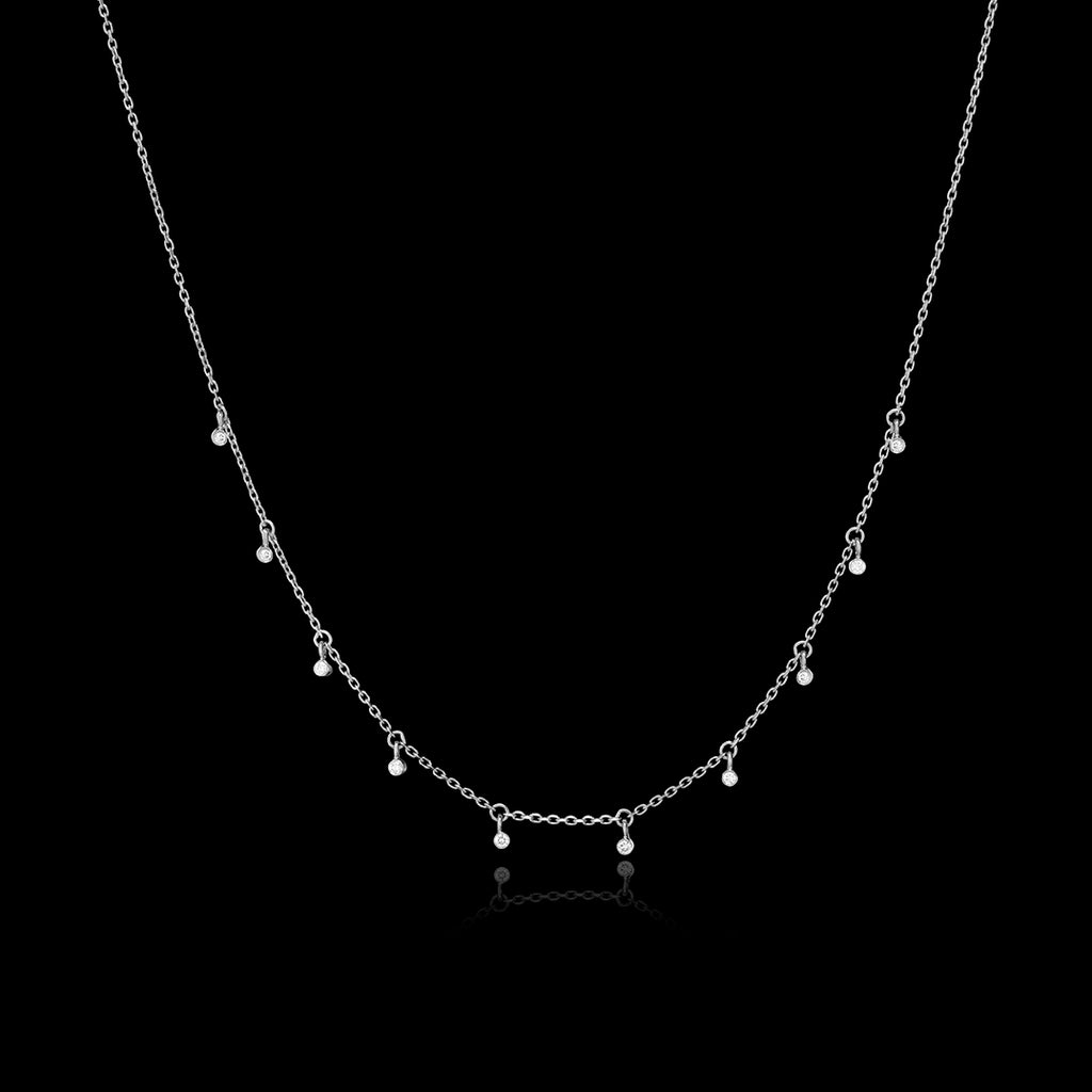 Silver Starry Night Cosmic Necklace