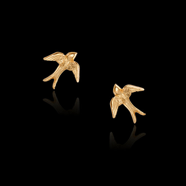 As seen on HRH the Duchess Of Sussex, The Silver Swallow Stud Earrings by Catherine Zoraida X RSPB