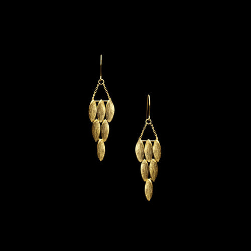 Gold Wing Chandelier Earrings by Catherine Zoraida Jewellery