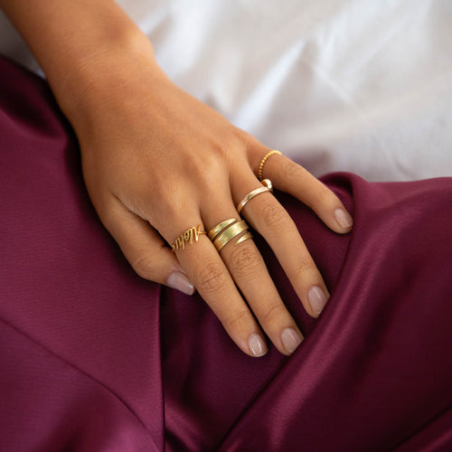 Gold Aloha ring by jewellery designer Catherine Zoraida London