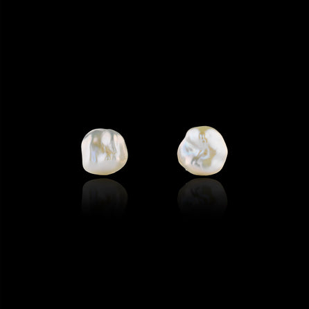 gold baroque pearl stud earrings by catherine zoraida