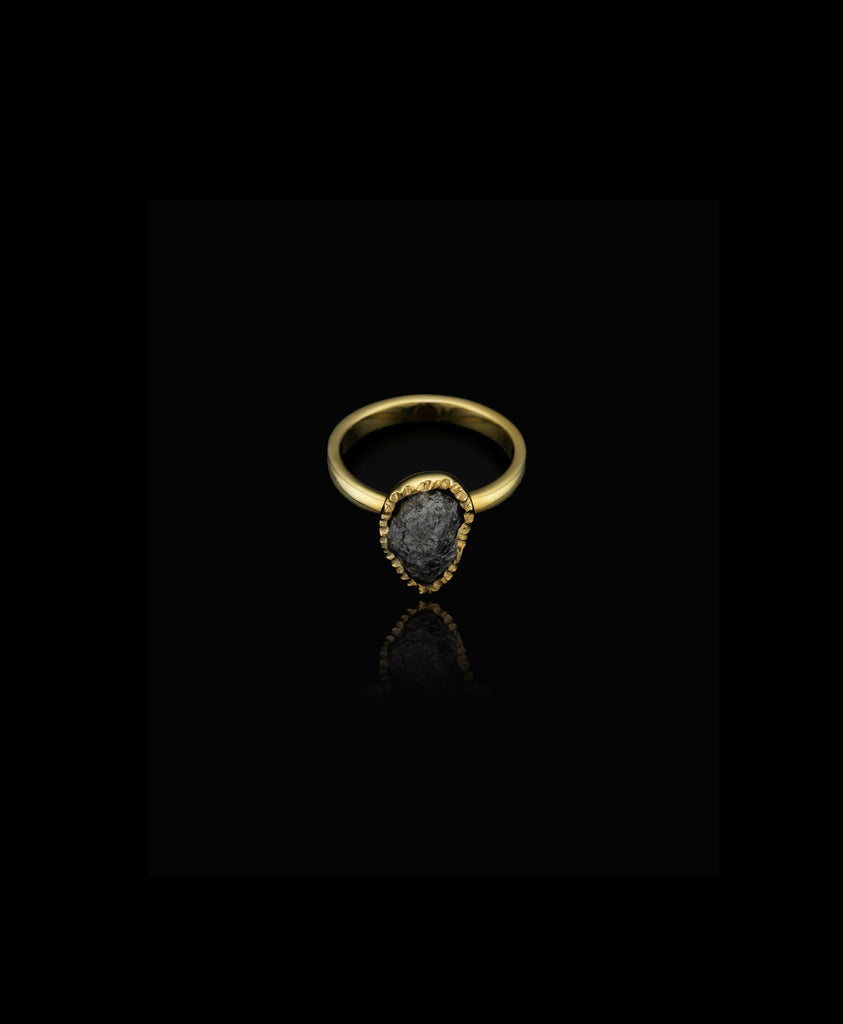 Rough Black Diamond Ring by Catherine Zoraida