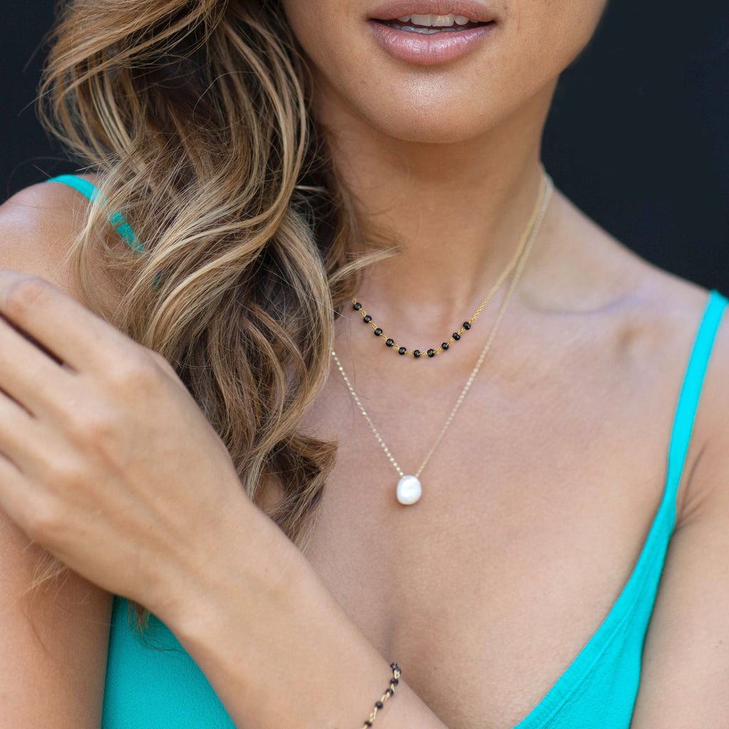 Spinel Necklace by Catherine Zoraida. Model Rocky Barnes