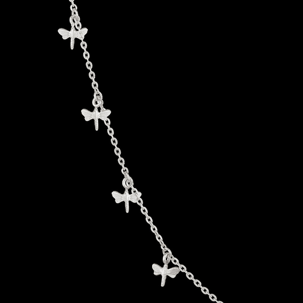 silver dancing dragonflies necklace by catherine zoraida