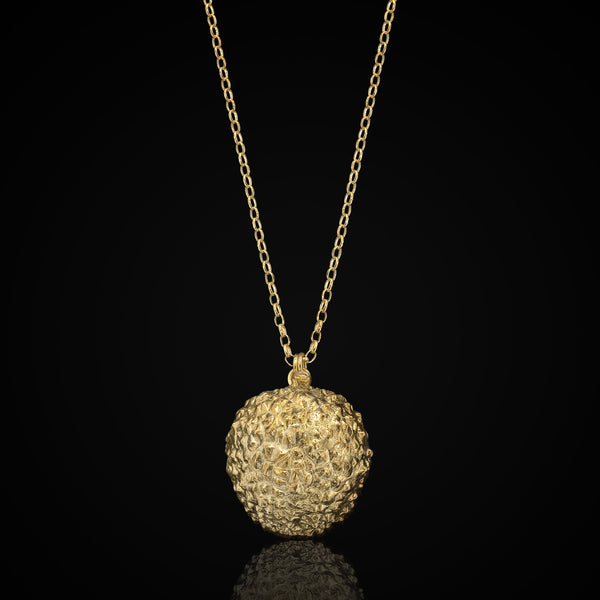 Gold Delicious Lychee Pendant