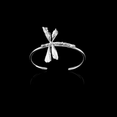 Silver Apple Twig Ring