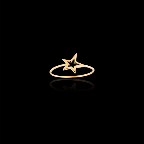 gold fair trade shooting star ring by Catherine zoraida