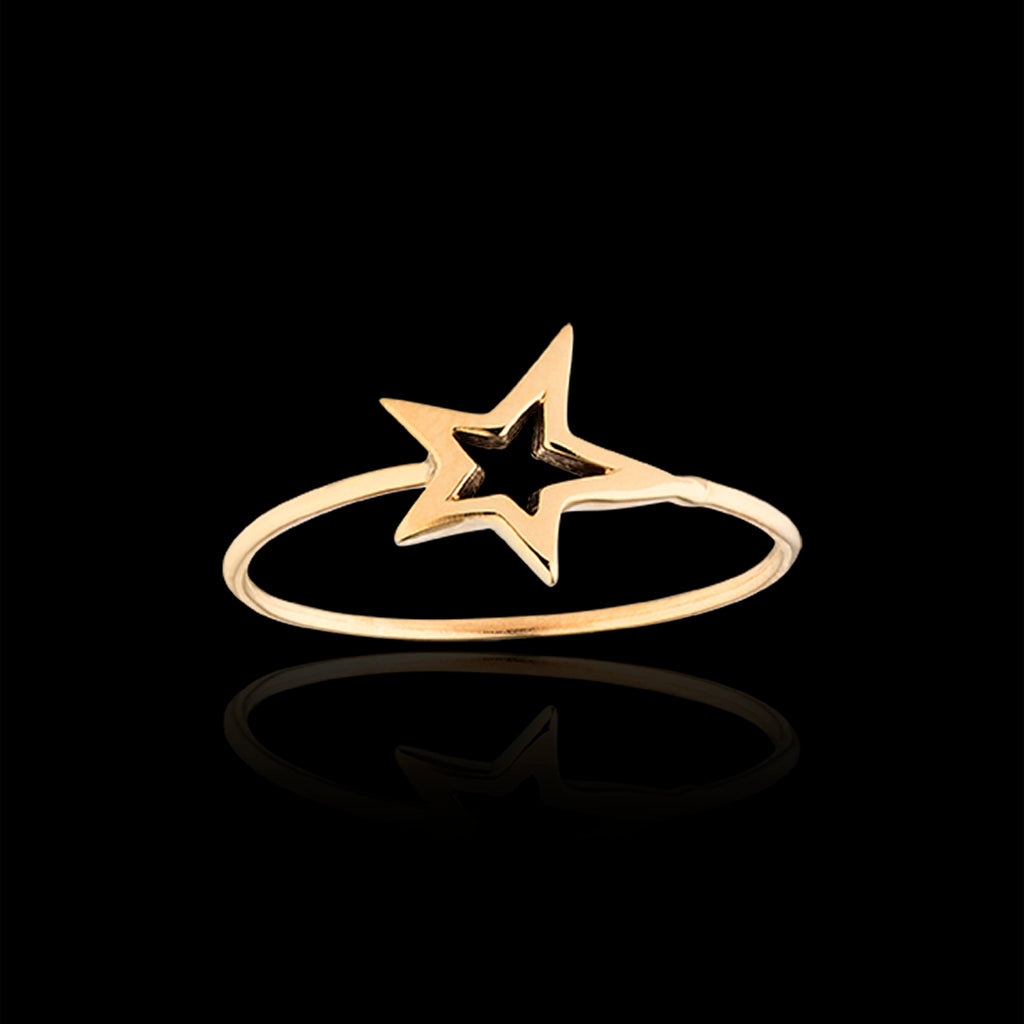 gold fair-trade shooting star ring by Catherine zoraida