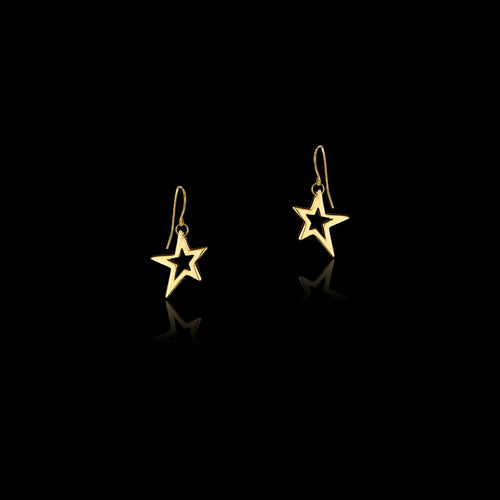 Gold Star and Emerald Pendant