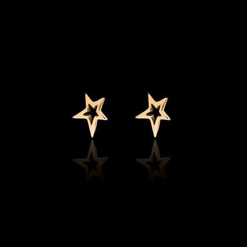 Silver Starry Night Stud Earrings
