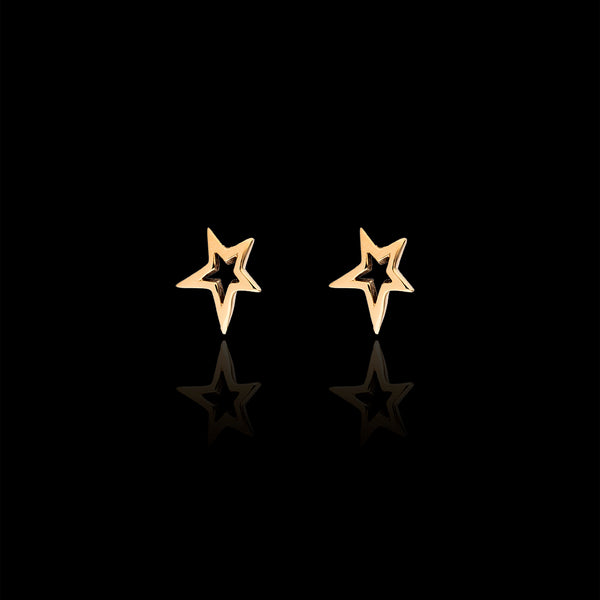 gold fairtrade shooting star studs catherine zoraida