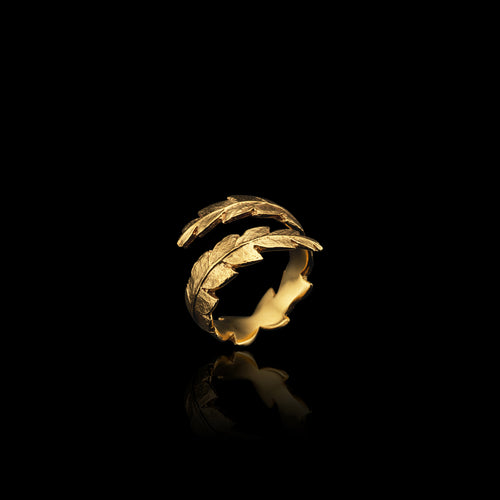 Gold Blade of Grass Ring
