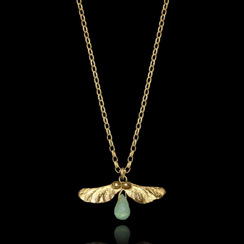 Gold Bluebell Pendant