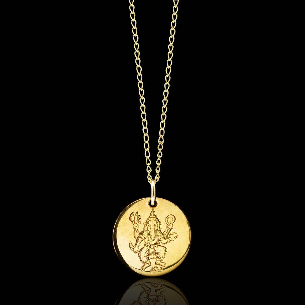 9ct Gold Ganesh Pendant