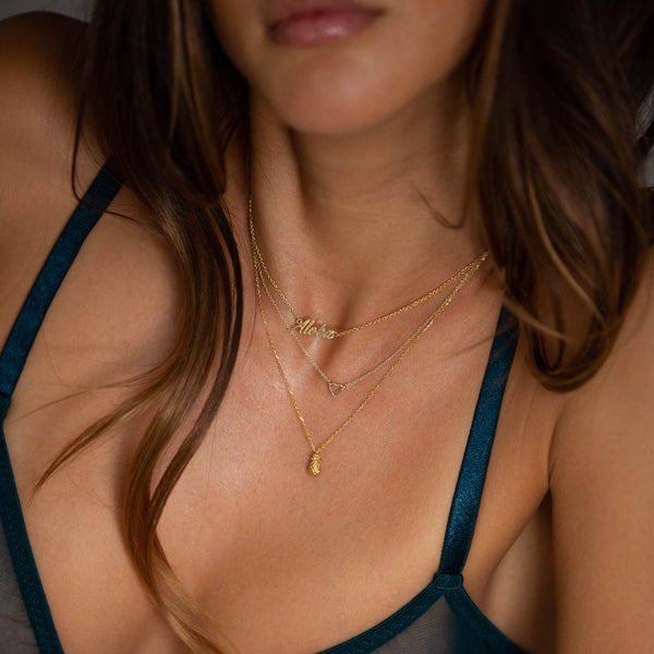 gold aloha necklace by british jewellery designer catherine zoraida