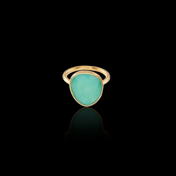 green chrysoprase ring by catherine zoraida