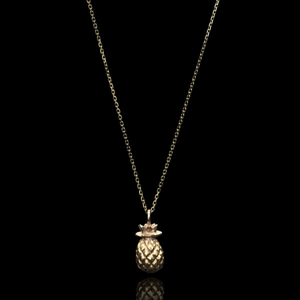 Gold Mini Pineapple Necklace