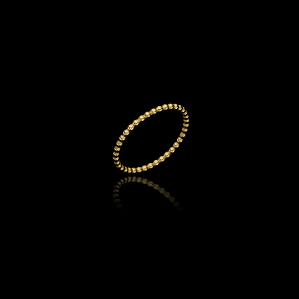 Gold Bubble Stacking Ring by Uk jewellery designer Catherine Zoraida