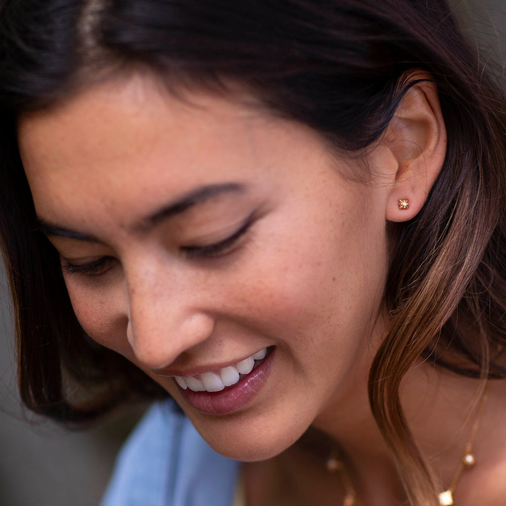 silver starry night studs by british jewellery designer catherine zoraida