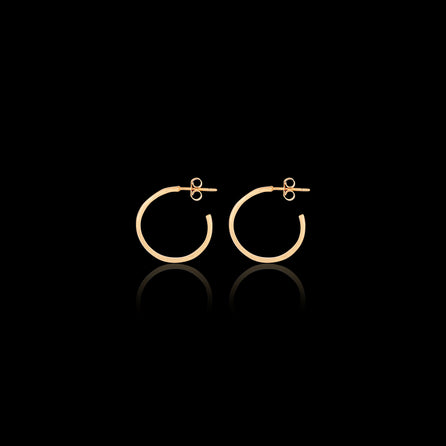 gold hammered hoops by catherine zoraida