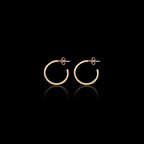 Rose Gold Fern Hoop Earrings