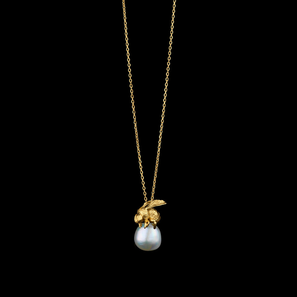 Honeybee and Pearl Pendant by jewellery designer Catherine Zoraida