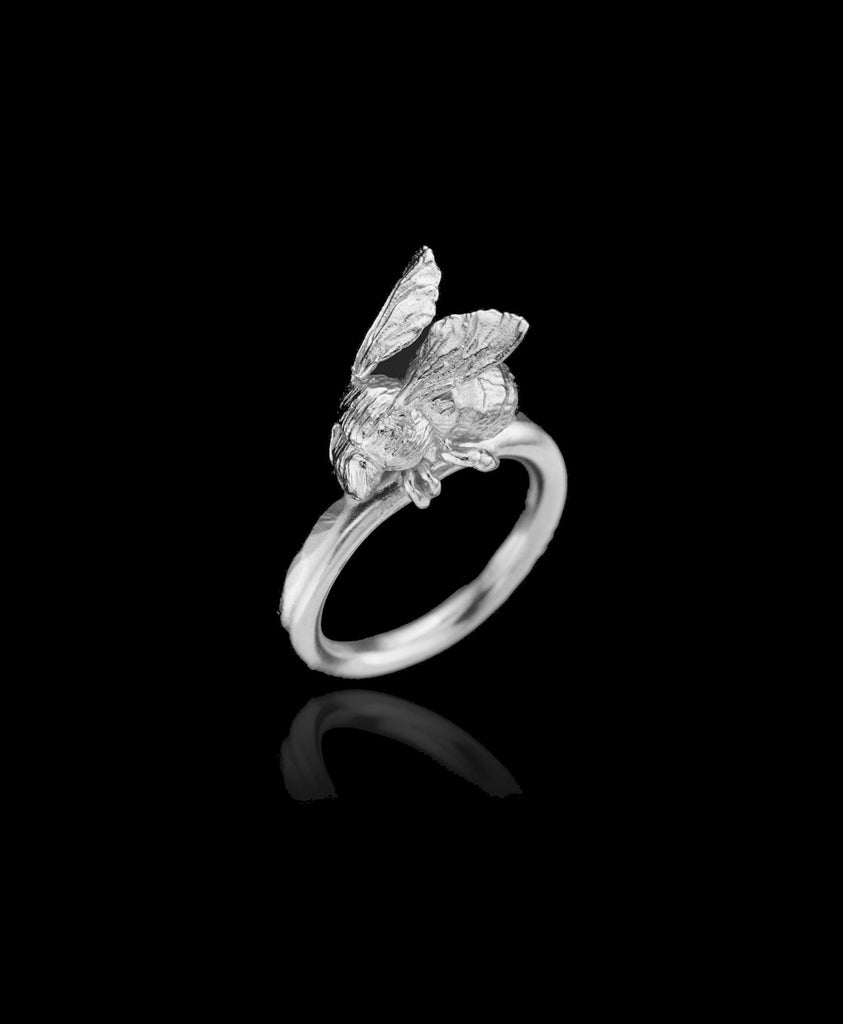Silver Honeybee Ring by Zoraida London Jewellery