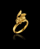 Gold Honeybee Ring by Catherine Zoraida