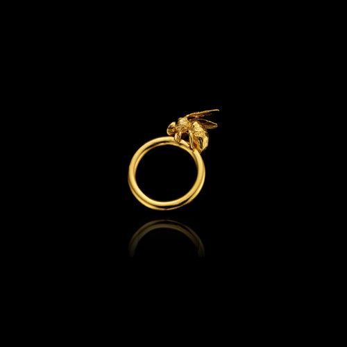 Gold Thistle Ring or Brooch
