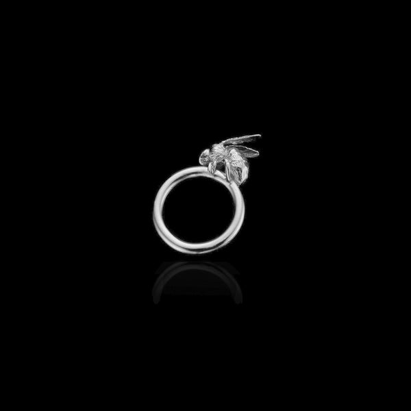 Silver Honey Bee Ring by Zoraida London Jewellery