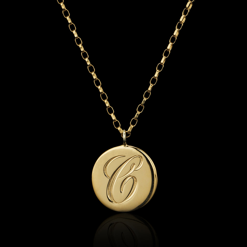Gold Personalised Initial Pendant