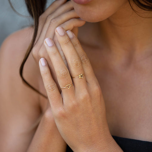 Gold Fairtrade Shooting Star Ring by Catherine zoraida