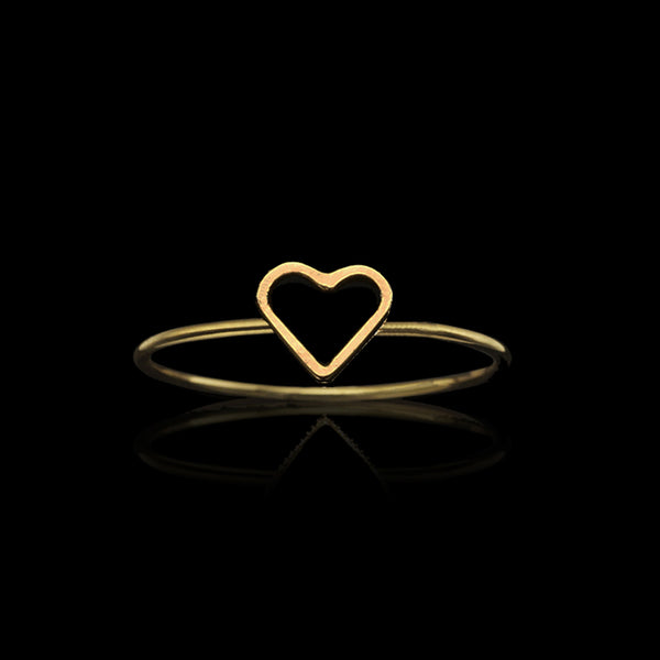 Gold Fairtrade Love Heart Ring by Catherine Zoraida