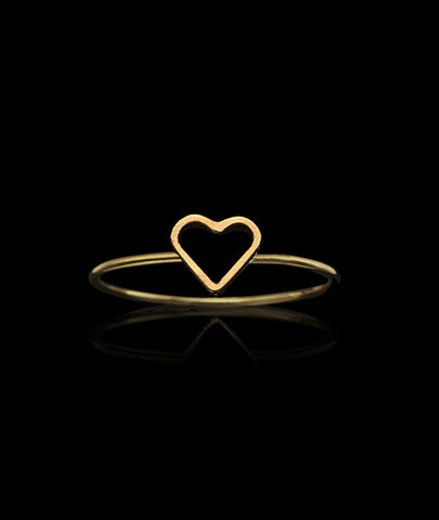 Gold Fairtrade Love Ring