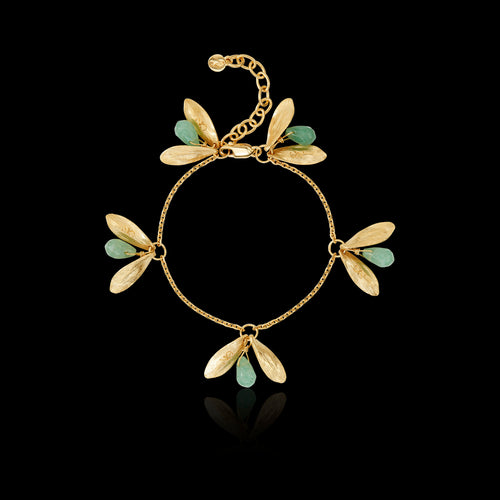 Gold Leafy Jingle Bracelet