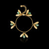 gold lucky leaf bracelet by catherine zoraida