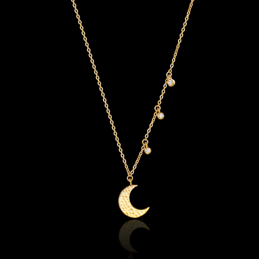 Gold Moon Drop Pendant Catherine Zoraida