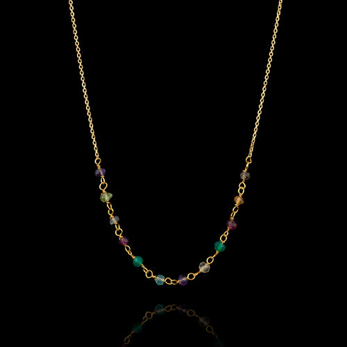 Gold Maui Rainbow Necklace