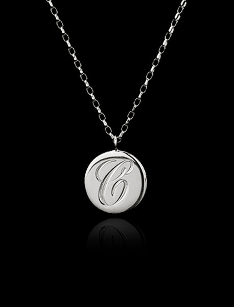 Silver Personalised Initial Pendant