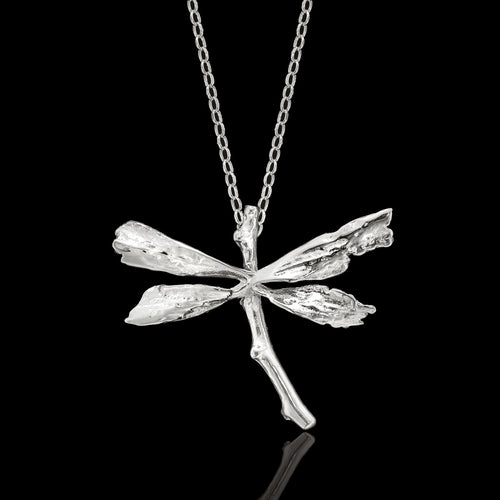 Silver Leafy Jingle Necklace