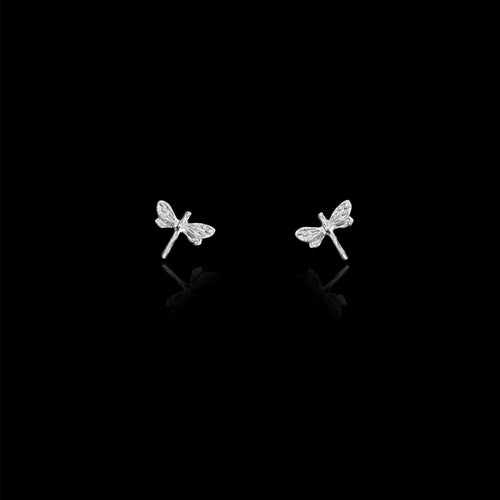 Silver Honeybee Stud Earrings