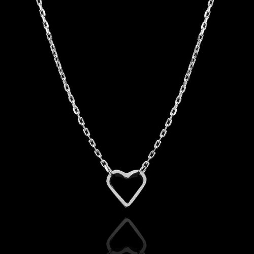 Silver Fairtrade Long Love Hearts Necklace