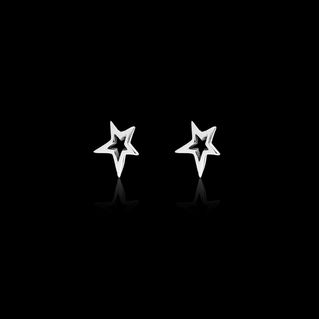 Silver Fairtrade Shooting Star Stud Earrings
