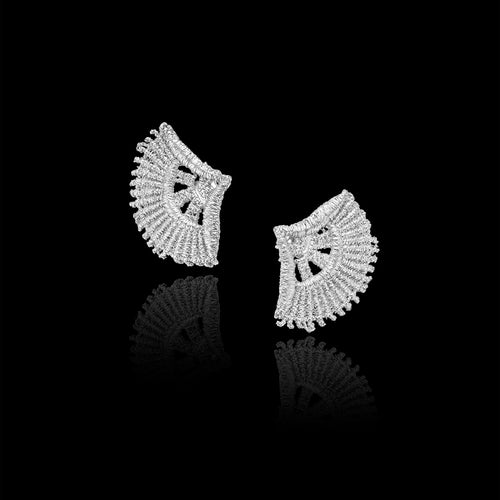 Silver Double Leaf Earrings