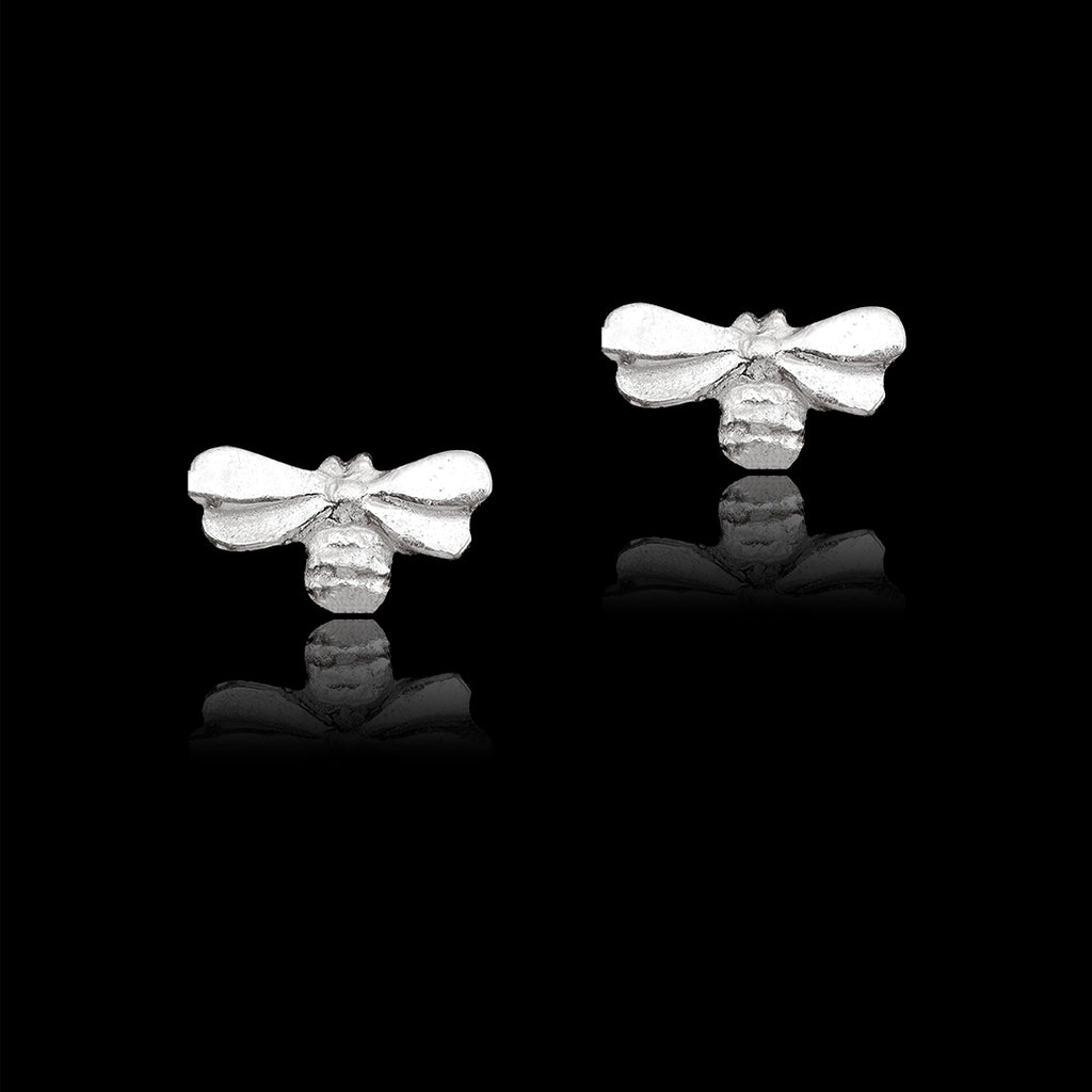 Silver Honeybee Stud Earrings by catherine zoraida
